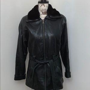Wilson's leather coat -xs
